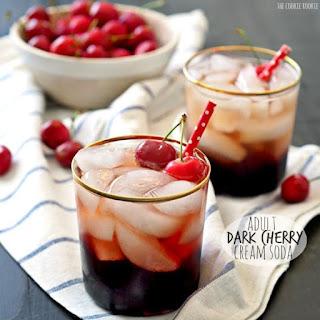 Adult Dark Cherry Cream Soda.