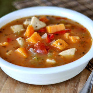 Spicy {Or Not} Chicken and Sweet Potato Soup.