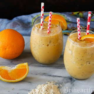 Creamy Orange and Vanilla Smoothie.