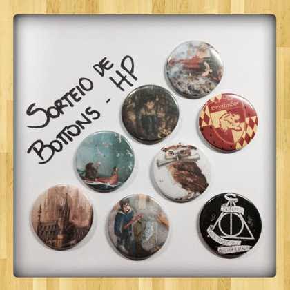 promoção no instagram leitora compulsiva bottons harry potter