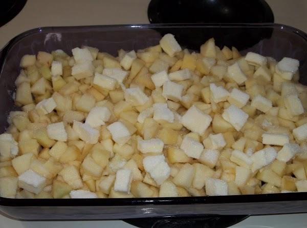 """Preheat oven to 400*.  Arrange apple and fig pieces in a 9x13"""" baking..."""