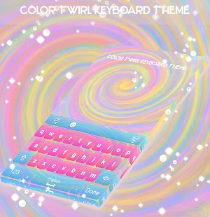 Color Twirl Keyboard Theme - náhled