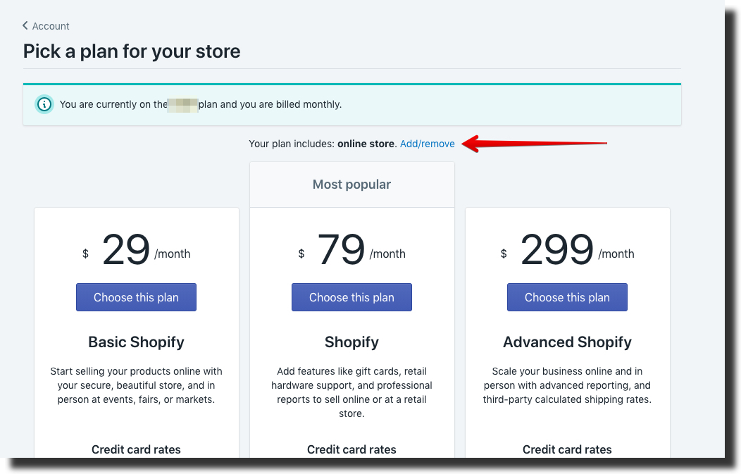 Shopify lite plan