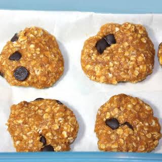No Bake Pumpkin Chocolate Chip Protein Cookies.
