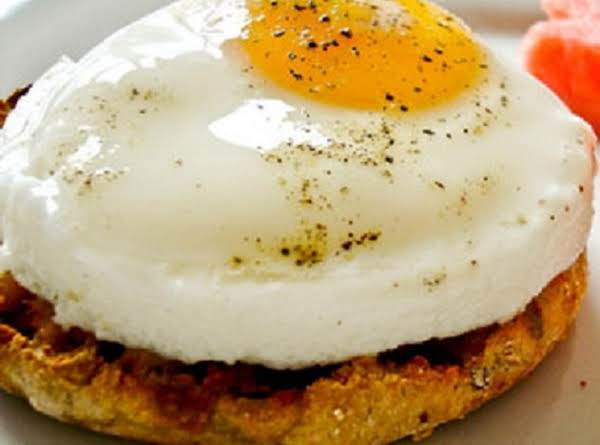Poched Egg On An English Muffin With Spam Under The Egg...spams The Star In This Sammie Challenge