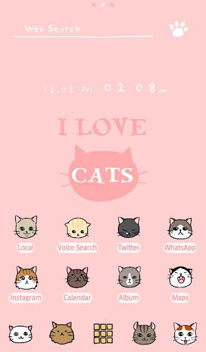 猫 壁紙アイコン I Love CATS 無料