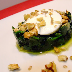 Spinach with Walnuts