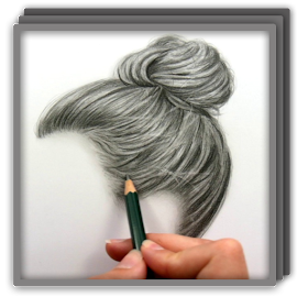 realistic drawing hairstyles