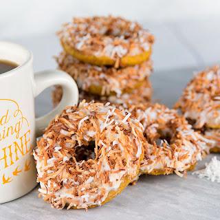 Pumpkin Coconut Vegan Donuts.