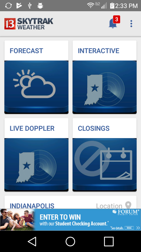 WTHR Live Doppler 13 Weather- screenshot