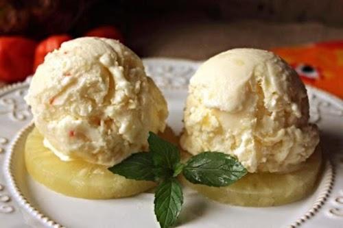 "Pineapple Habanero Ice Cream ""The sweetness of the pineapple is enhanced by..."