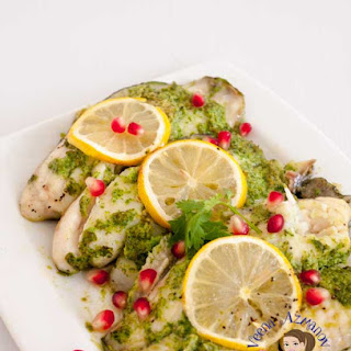 Quick and Easy Cilantro Baked Fish.