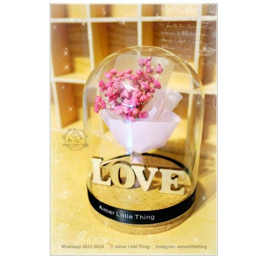Aimer Little Thing 首創紀念性木牌: 保鮮花玻璃瓶