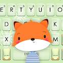 Cute Cartoon Fox Keyboard Theme icon