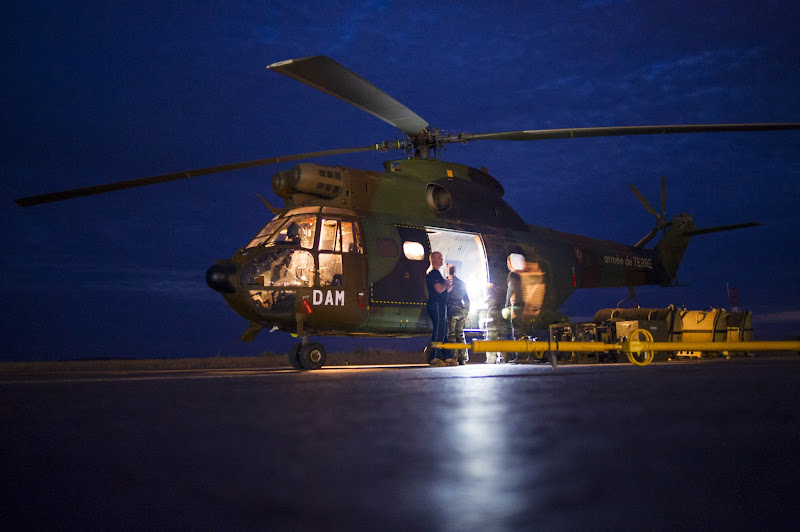Photo: A Puma helicopter from the French Army with French soldiers flying back from the city of Timbuktu, arrive at the French army base camp on January 28, 2013 in Sevare, located 630 kilometers north-east of Bamako. French-led forces Monday seized Mali's fabled desert city of Timbuktu in a lightning advance north as fleeing Islamists torched a building housing priceless ancient manuscripts.  AFP PHOTO / FRED DUFOUR        (Photo credit should read FRED DUFOUR/AFP/Getty Images)