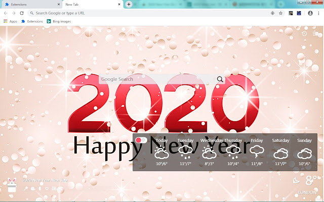 2020 New Year New Tab, Wallpapers HD