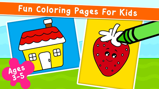 Coloring Games for Kids - Drawing & Color Book  screenshots 1