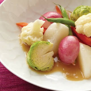Vegetables with Sumiso Bagna Cauda from 'Hiroko's American Kitchen'.