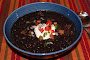 Earthy, Black Bean Soup with Fresh Relish
