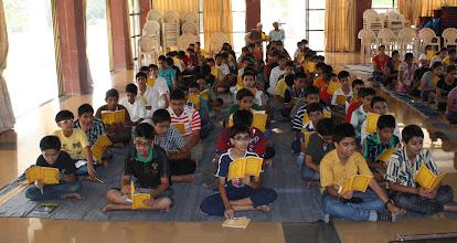 Photo: Madhyamik boys attending class