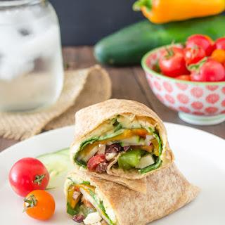 Greek Veggie Hummus Wrap