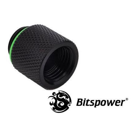 """Bitspower forlenger, 1/4""""BSP, Matt Black"""