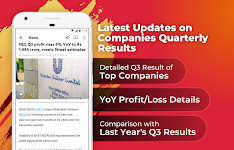 screenshot of The Economic Times: Sensex, Market & Business News