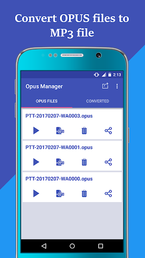 Voice & Audio Manager for WhatsApp , OPUS to MP3 4.1.4 screenshots 4