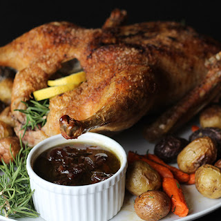 Roast Duck with Potatoes and Carrots