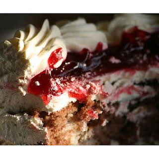 Filled Cherry Cake.