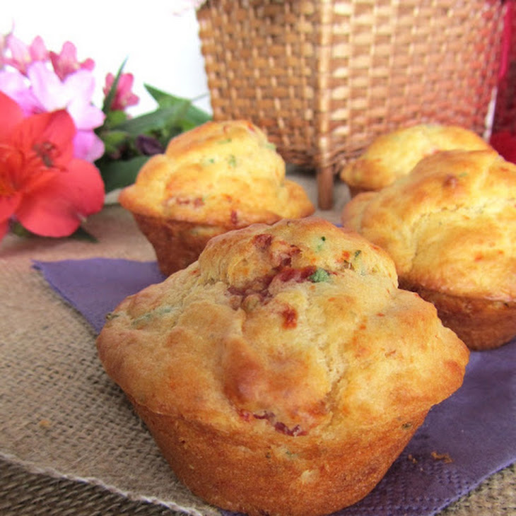 Parmesan, Dried Tomato, and Herb Muffins Recipe
