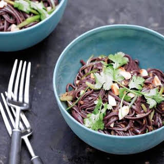 Black Rice Noodles With Ginger and Chili.