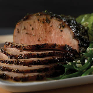 Herb Crusted Roasted Pork Roast.
