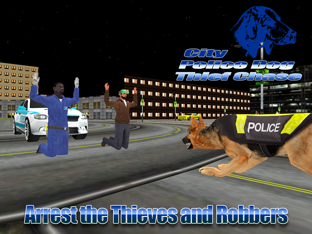 City Police Dog Thief Chase 3D