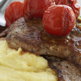 Lemon-Oregano Veal with Balsamic Tomatoes