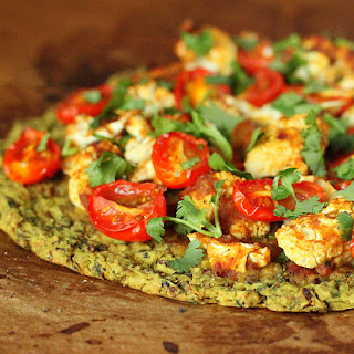 Chickpea Quinoa Chard Pizza Crust with Roasted Caulifower
