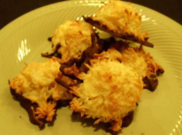 Coconut Macaroons Chocolate Dipped Recipe