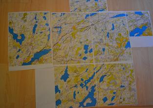 Photo: Karttapullautin maps from around 60 square km.