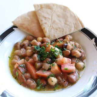 Ful Medames, Syrian Style (Arabic Bean Salad) [Vegan, GF].