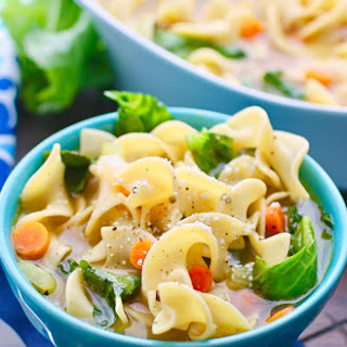 Vegetable Noodle Soup with Greens