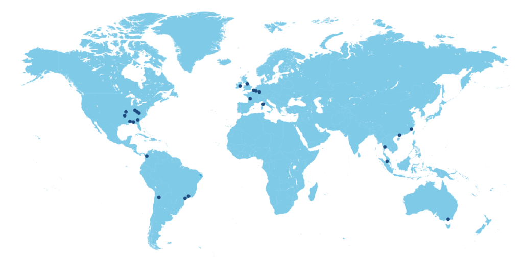 Mappa dei centri tecnici Sibelco