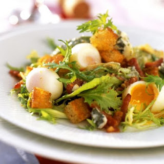 Quail Egg and Bacon Salad