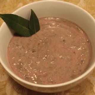 Vegan Creamy Black Bean Soup.