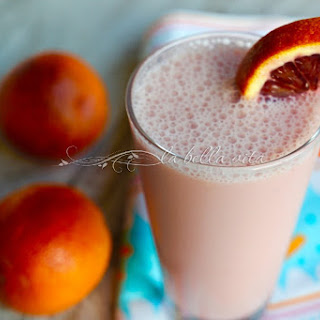 Skinny, Creamy Blood Orange Smoothie.