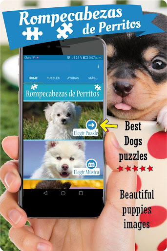 Dogs puzzle games free, slide puzzle cute puppies screenshots 1