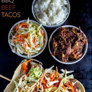 Slow-Cooker Korean BBQ Beef Tacos.