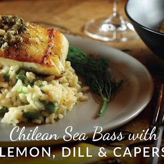 Chilean Sea Bass with Lemon, Dill & Caper Sauce Recipe