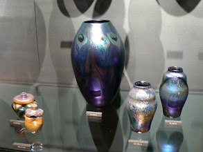 Photo: Tiffany.  Favrile glass.  http://www.metmuseum.org/Collections/search-the-collections/10009729 http://www.metmuseum.org/Collections/search-the-collections/10009733 http://www.metmuseum.org/Collections/search-the-collections/10009735 http://www.metmuseum.org/Collections/search-the-collections/10009730 http://www.metmuseum.org/Collections/search-the-collections/10009740