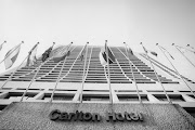 The exterior of the Carlton Hotel in the Central Business District of Johannesburg. Circa 1990s.