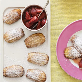 Madeleines with Caramelized Strawberries.
